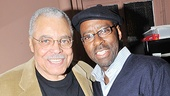 They won acclaim as father and son in the 1987 premiere of August Wilson's Fences, and now Driving Miss Daisy star James Earl Jones enjoys a backstage reunion with Courtney B. Vance.