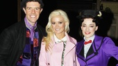 Show stars Gavin Lee and Laura Michelle Kelly welcome Holly Madison to the Mary Poppins family.