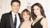 "Drama League honoree Patti LuPone is sandwiched by her Women on the Verge of a Nervous Breakdown castmates Justin Guarini (who sang ""As Long as She Needs Me"") and Laura Benanti (who sang ""Everything's Coming Up Patti"")."