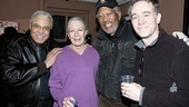 Freeman smiles for our camera with the whole Daisy cast: James Earl Jones, Vanessa Redgrave and Boyd Gaines