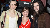Kelly Clarkson finds herself in a Carney sandwich with Reeve and and his musician brother, Zane.