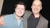 Angels in America alum Frank Wood (r.) throws his arm around co-star Michael McGrath, who recently departed Memphis.