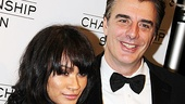 Chris Noth cozies up with longtime love Tara Wilson on his opening night.