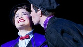 Gavin Lee plants a kiss on his lovely leading lady, Ashley Brown.