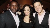 Miscast performers and American Idiot co-stars Joshua Henry and Justin Guarini sandwich Nina Lafarga.