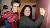 Rosie ODonnell Visits Spider-Man, Turn off the Dark  Reeve Carney  Rosie ODonnell