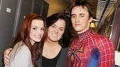 Rosie ODonnell Visits Spider-Man, Turn off the Dark  Jennifer Damiano  Rosie ODonnell  Reeve Carney