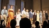 The entire cast steps out to thunderous applause on Arcadia's opening night. 