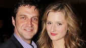 At the after-party onstage siblings Raul Esparza and Grace Gummer pose for a family photo. 