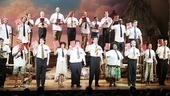 The Book of Mormon cast assembles for the show&#39;s final number.