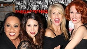 Roz Ryan, Bianca Marroquin, Christie Brinkley and Leigh Zimmerman slice the Chicago cake together.