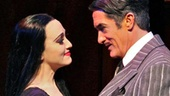 Bebe Neuwirth as Morticia and Roger Rees as Gomez in The Addams Family.