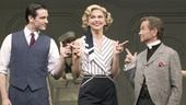 Colin Donnell as Billy Crocker, Sutton Foster as Reno Sweeney, Joel Grey as Moonface Martin and cast in Anything Goes.