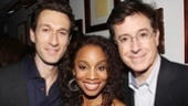 Stage vets Aaron Lazar and Anika Noni Rose are proud to welcome Stephen Colbert to the theater community.
