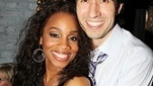 Tony winner Anika Noni Rose cuddles up with Company choreographer Josh Rhodes.