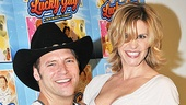Jim Newman and Jenn Colella are excited about playing Lucky Guys G. C. Wright and Chicky Lay. 