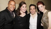 So many laughs, so little time! Sarah Bolt and Marla Mindelle look like they're having a blast with Jerry Dixon and Mario Cantone.