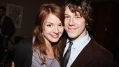 After a year of rocking out in American Idiot, it's right back to the boards for Jerusalem star John Gallagher Jr. who is joined by his girlfriend, Aubrey Dollar.