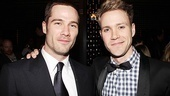 Luke Macfarlane is welcomed to Broadway by How to Succeed&#39;s Bud Frump, a.k.a. Broadway.com video blogger Christopher J. Hanke.