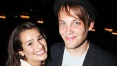 Look who Lea Michele brought along to the show: her Broadway vet boyfriend Theo Stockman (Hair, American Idiot).