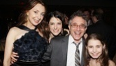 Chip Zien is feeling fine with Donna Murphy, Nicole Parker and Rachel Resheff by his side.