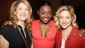 Sister Act stars Victoria Clark and Patina Miller say hello to House of Blue Leaves nominee Edie Falco.