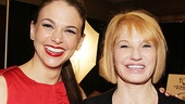 Sutton Foster and Ellen Barkin have plenty to chat about. Foster is currently sharing the stage in Anything Goes with Barkin's Normal Heart director Joel Grey.
