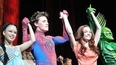 Spider-Man stars T.V. Carpio, Reeve Carney, Jennifer Damiano and Patrick Page are thrilled by the audience's enthusiastic response to the retooled version of the show.