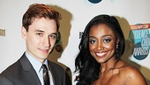 Seth Numrich (War Horse) and Patina Miller (Sister Act) proudly display their show's awards for Favorite Play and Favorite Musical, respectively.