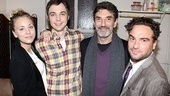 Proud Big Bang Theory creator Chuck Lorre celebrates Jim Parsons' Broadway debut with his trio of talented stars: Kaley Cuoco, Parsons and Johnny Galecki.