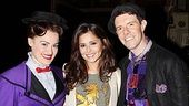 Mary Poppins stars Ashley Brown and Gavin Lee sandwich British beauty Cheryl Cole.