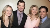 Marin Ireland, Andrew Rannells, Victoria Clark and Priscilla&#39;s Will Swenson enjoy the afternoon&#39;s festivities together. 