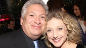 Make em laugh! Host Harvey Fierstein gets cheek to cheek with Broadway vet Carole Kane. 