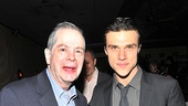 The Illusion castmates Peter Bartlett and Finn Wittrock enter their opening night party.