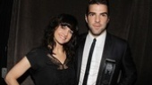 Former winner Carla Gugino is thrilled to present Zachary Quinto his Theatre World Award for his moving work in Angels in America.