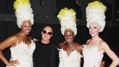 "Paul Shaffer snaps a hair-raising shot with Priscilla's Divas (Jacqueline B. Arnold, Anastacia McCleskey and Ashley Spencer), who kick off the musical with Shaffer's hit song, ""It's Raining Men."" Be sure to watch them perform the number on this year's Tony Awards telecast!"