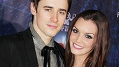 Spider-Mans leading couple Reeve Carney and Jennifer Damiano get close.