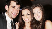 Next to Normal reunion! Jennifer Damiano is sandwiched by former castmates Adam Chanler-Berat and Meghann Fahy.