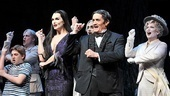 Snap! Brooke Shields and Roger Rees show off a few more dance moves before sending audiences home to their own families.