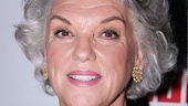 The luminous Tyne Daly gets ready to enjoy a well-earned opening night soiree.