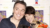 Spider-Man villain Patrick Page nuzzles up with his wife, Paige Davis, and a Broadway Barks pup.