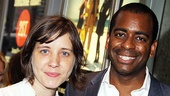 Director Kate Whoriskey enjoys the evening with husband Daniel Breaker, who recently starred in By the Way, Meet Vera Stark at Second Stage. 