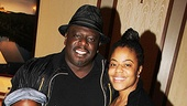 Cedric the Entertainer and his wife Lorna Wells enjoy a family night at the theater with their children Croix Alexander and Lucky Rose.