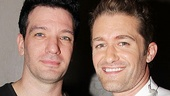 Special guest J.C. Chasez of 'NSYNC fame poses with Matthew Morrison before the show.