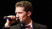 "Matthew Morrison opens his concert with a jazzy rendition of ""Sway."""