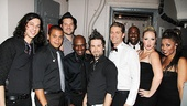 A quick photo with his band and backup singers, and Matthew Morrison is ready to go.