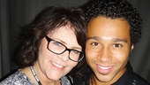 Mo Gaffney, who starred as Prudy Pingleton, is all smiles with Corbin Bleu by her side.