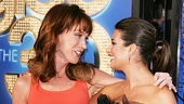 Former Glee guest star Kathy Griffin chats up Lea Michele on the red carpet.