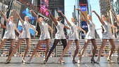 Radio City Rockettes in Times Square  the Radio City Rockettes 