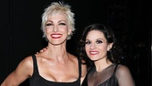 Platinum Hit's Kara DioGuardi poses with her platinum-haired co-star Amra-Faye Wright.
